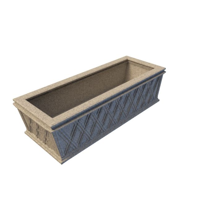 Granite Planter 3d Model 3ds Max Files Free Download