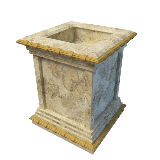 Antique Tall Square Planter 3d Model 3ds Max Files Free