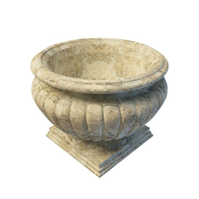 Antique Stone Planter 3d Model 3ds Max Files Free Download