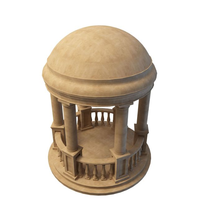Roman Marble Style Garden Gazebo 3d Model 3ds Max Files