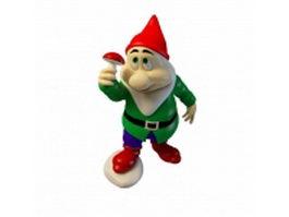 Green garden gnome 3d model