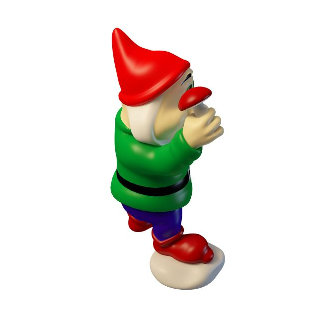 Green Garden Gnome 3d Model 3ds Max Files Free Download