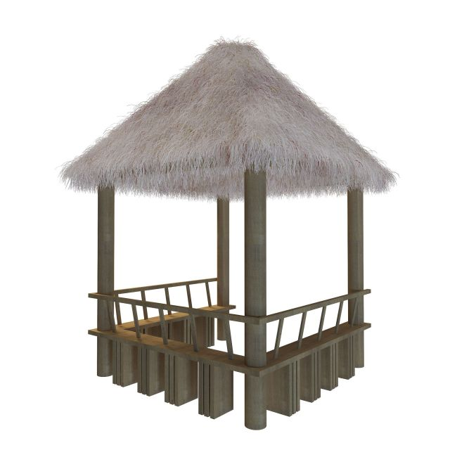 Thatched Pavilion 3d Model 3ds Max Files Free Download