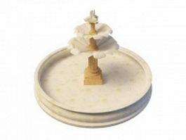 White marble fountain 3d model