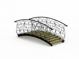 Wrought iron garden bridge 3d model