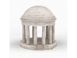 Memorial pavilion 3d model