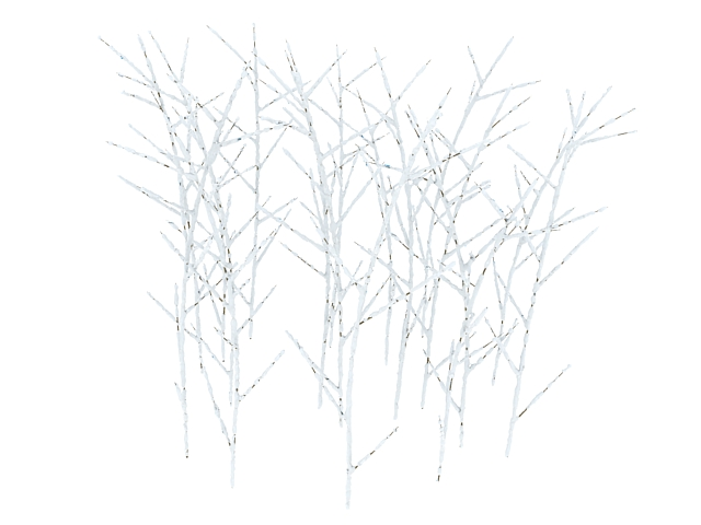 shrubs in winter 3d model 3ds max files free download
