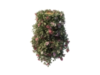 Tiered plant stand with vine flowers 3d model
