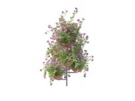 Tiered plant stand herb outdoor 3d model