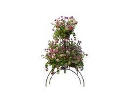 Garden planter stand 3d model