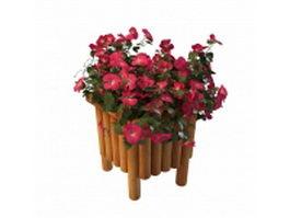 Garden planter flowers 3d model