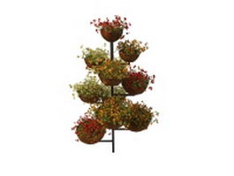 Tiered planter stand 3d model