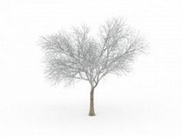 Tree in snow 3d model
