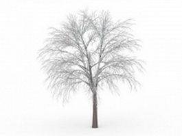 Beautiful iced tree 3d model