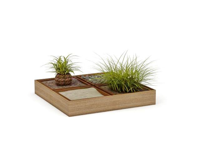 Garden Planter Box 3d Model 3ds Max Files Free Download