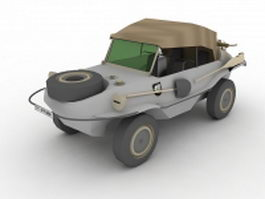 Volkswagen Schwimmwagen swimming car 3d model