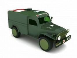 Military ambulance vehicle 3d model
