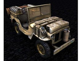 Willys military jeep 3d model
