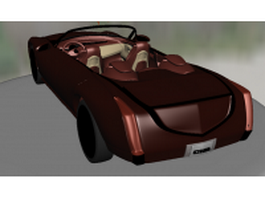 Red Cadillac convertible 3d model