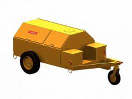 Flammable trailer cart 3d model