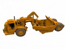 Wheel tractor scraper 3d model