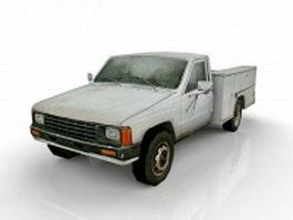 Old utility truck 3d model
