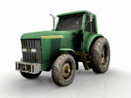 Broken tractor 3d model