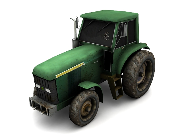 Broken Tractor Windshield : Broken tractor d model ds max files free download
