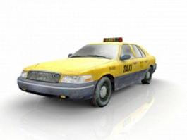 Old taxi cab 3d model