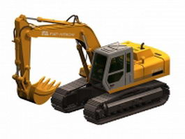 Fiat-Hitachi FH 200 excavator 3d model