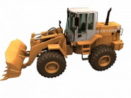 Wheel loader scoop 3d model