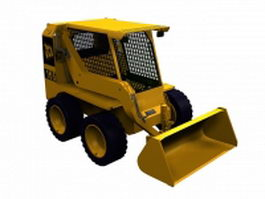 Armored wheel loader 3d model