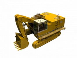 Heavy track loader 3d model