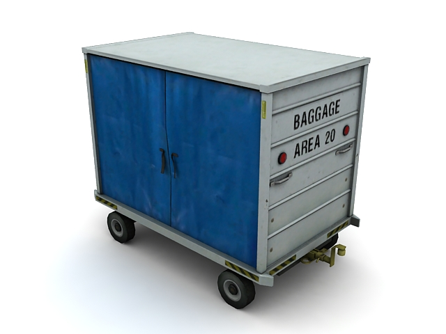 Airport baggage cart 3d model 3ds max files free download ...