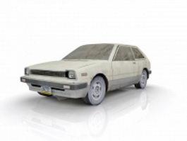 Old hatchback car 3d model
