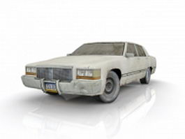 Dirty white car 3d model