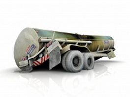 Damaged fuel tanker 3d model