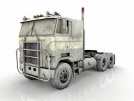 Flat nose truck 3d model