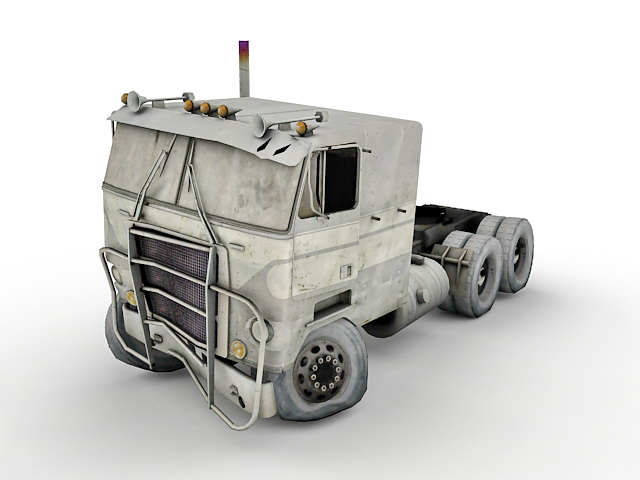 Wrecked Truck 3d Model 3ds Max Files Free Download Modeling 31660