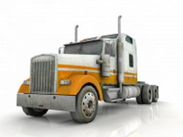 Semi truck with tractor unit 3d model