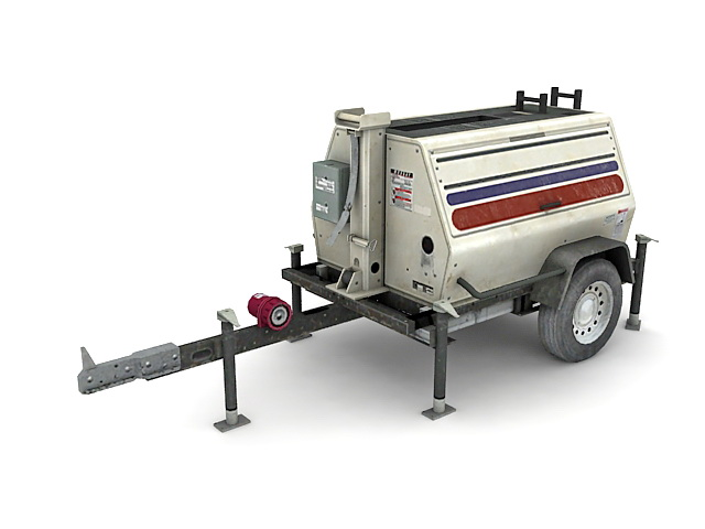 Army Generator Trailer Mounted 3d Model 3ds Max Files Free