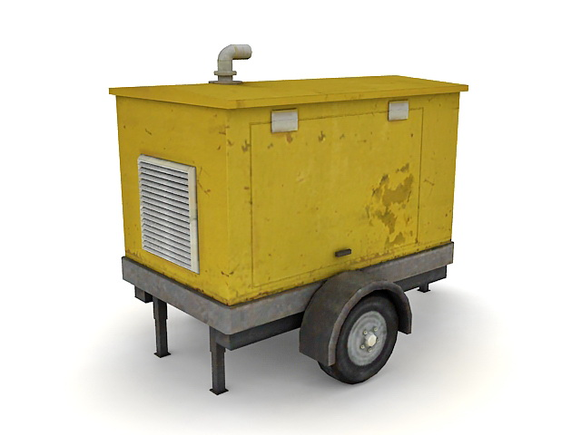 Generator Trailer 3d Model 3ds Max Files Free Download