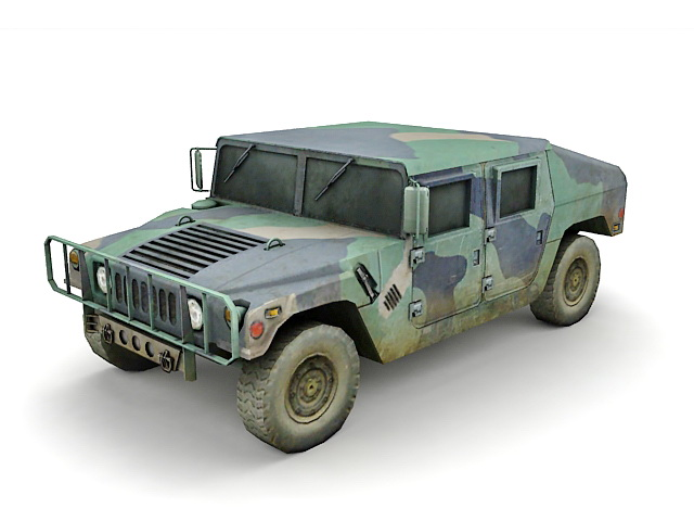 Military Humvee 3d Model 3ds Max Files Free Download