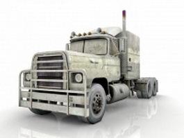 Long nose truck 3d model