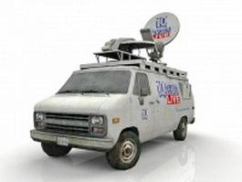 News Van 3d model