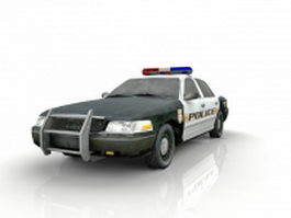 American police car 3d preview