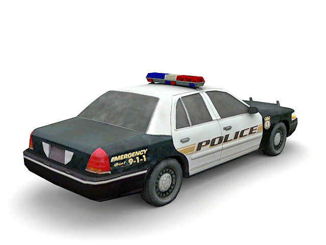 American Police Car 3d Model 3ds Max Files Free Download Modeling
