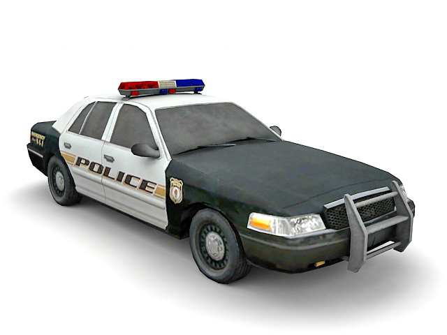 American Police Car 3d Model 3ds Max Files Free Download