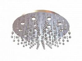 Drop glass ceiling light 3d model