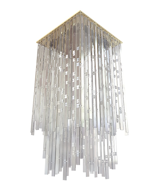 Square Crystal Chandelier 3d Model 3ds Max Files Free
